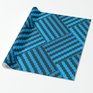 Modern and Cool Blue 3D Weave Pattern Wrapping Paper