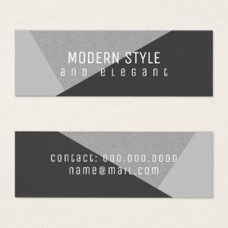 modern and elegant mini geometric mini business card