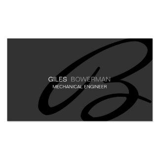 Modern and Elegant Monogram Business Card Template