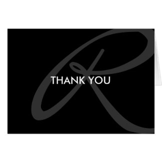 Modern and Elegant Monogram Thank You Note Card
