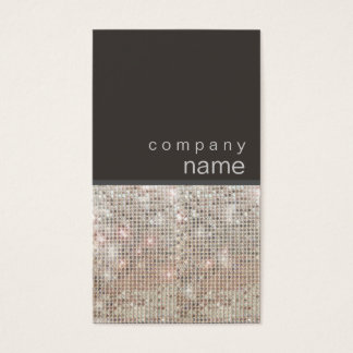 Modern and Hip FAUX Sequin Entertainer Business Card