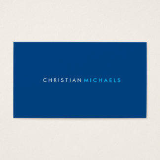Modern and Minimal Business Card (navy)