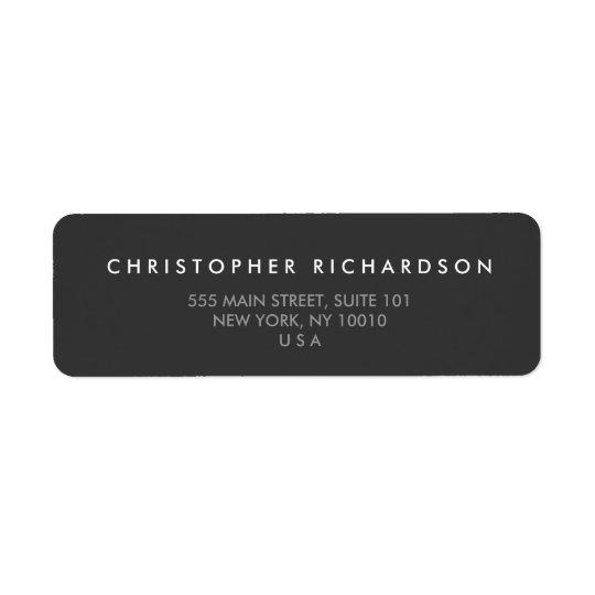 MODERN and MINIMAL Dark Grey Address Label