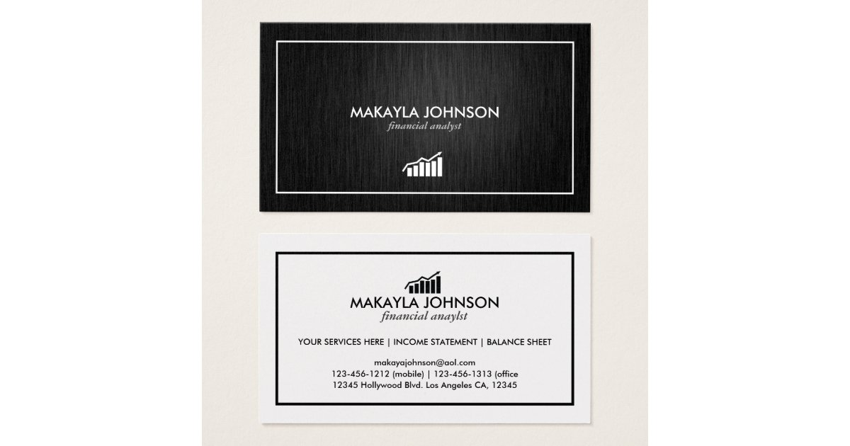 Modern And Minimal Financial Analyst Business Card Zazzle Ca