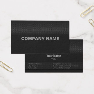 Modern and Minimal Fine Carbon Steel Business Card