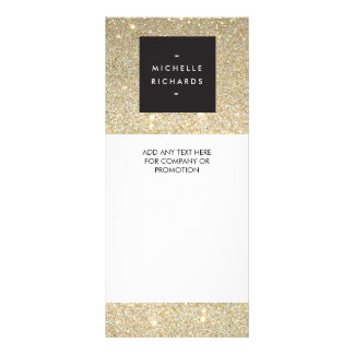 MODERN and SIMPLE BLACK BOX on GOLD GLITTER Rack Card