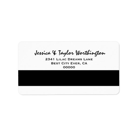 Modern and Simple Style Black and White Label
