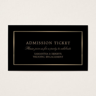 Modern and Sleek, Black and Gold, Admission Ticket