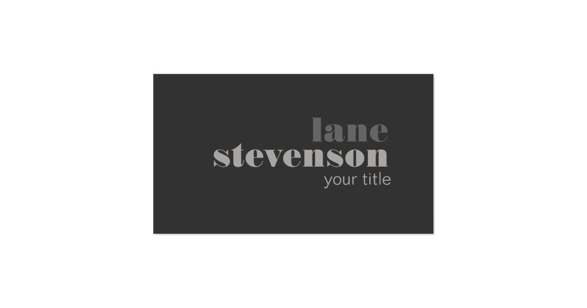 Modern and sophisticated bold font black business card for Good font for business cards