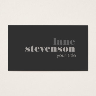 Modern and Sophisticated Bold Font Black Business Card