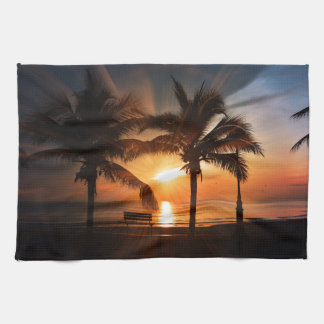 Modern and Trendy Sunset Kitchen Towels