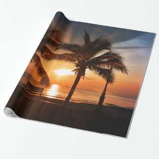 Modern and Trendy Sunset Wrapping Paper