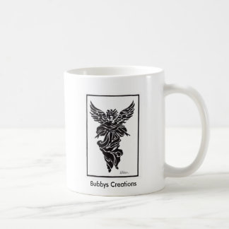 Modern Angel in Frame Classic White Coffee Mug