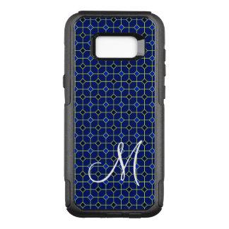 Modern Antique Tiles Pattern Design in Dark Blue OtterBox Commuter Samsung Galaxy S8+ Case
