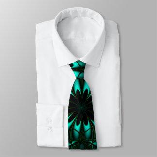 Modern  Aqua Fractal Necktie