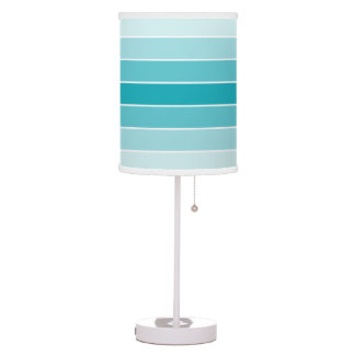 Modern Aqua Ombre Table Lamp