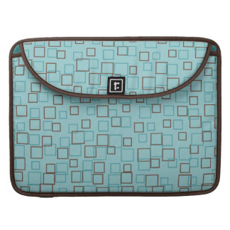 Modern Aqua Squares MacBook Sleeve Sleeves For MacBooks