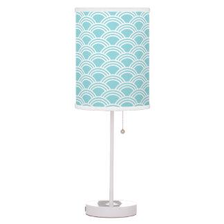 Modern Aqua Sunrise Table Lamp