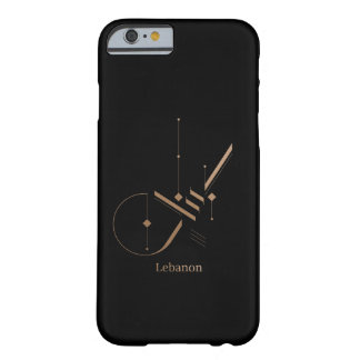 modern arabic calligraphy - Lebanon Barely There iPhone 6 Case