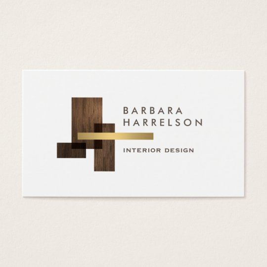 Modern architectural interior design logo business card for Interior design business ideas