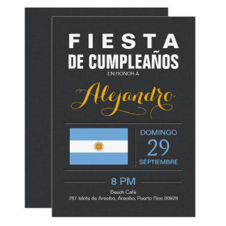 Modern: Argentina Party Card