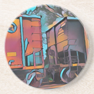 Modern aristocratic connecting Train cars Beverage Coasters