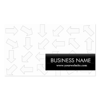 Modern Arrow Patterns Optometrist Business Card