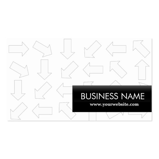 Modern Arrow Patterns Playwright Business Card