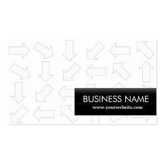 Modern Arrow Patterns Professor Business Card