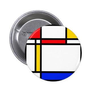 Modern Art 2 Inch Round Button
