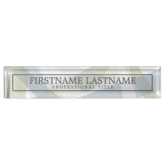 Modern Art Abstract with Name & Professional Title Name Plates