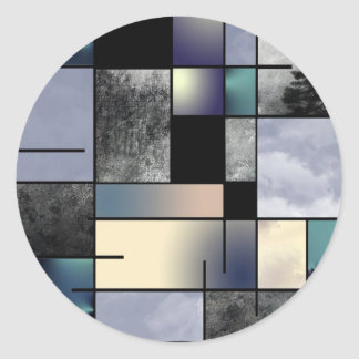 Modern Art Abstraction Classic Round Sticker