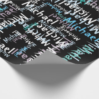 Modern Art Add Name Wrapping Paper