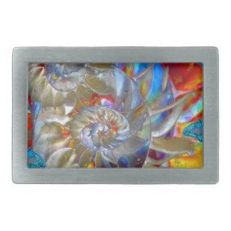 MODERN ART BLUE BUTTERFLIES ABSTRACT BELT BUCKLE