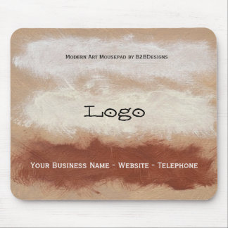 Modern Art Business Logo 2 Mouse Pad