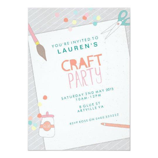 Modern Art & Craft Party Invitation