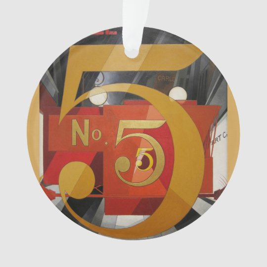 Modern Art Cubist Demuth Figure 5 in Gold