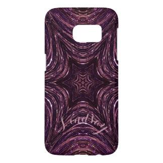 Modern Art Dark Pink Purple Kaleidoscope Flower Samsung Galaxy S7 Case