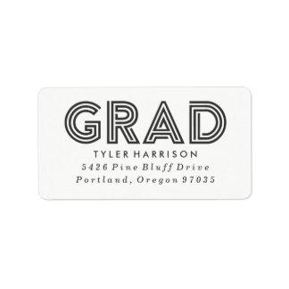 Modern Art Deco Grad   Graduation Address Labels