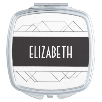 Modern art deco Personalized Compact Compact Mirror