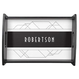 Modern Art Deco serving tray