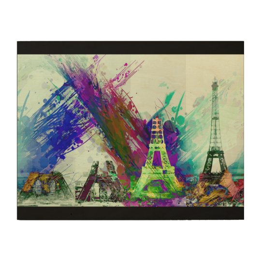 Modern Art Eiffel Tower Construction Paris France