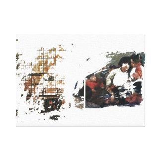 Modern art family canvas print