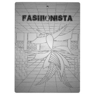 Modern Art Fashion Fashionista Mod Clip Board Grey Clipboards