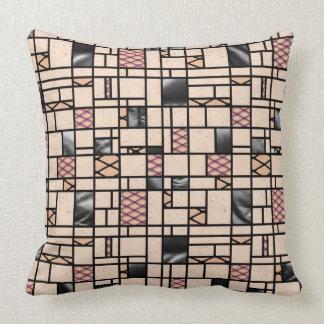 Modern Art Fishnet & Leather Pattern Throw Pillow