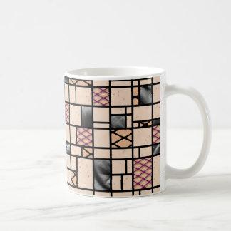 Modern Art Fishnets Skin and Leather Coffee Mug