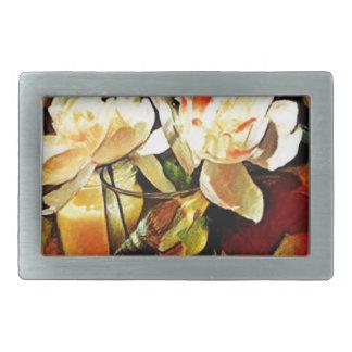 Modern Art Floral Belt Buckle