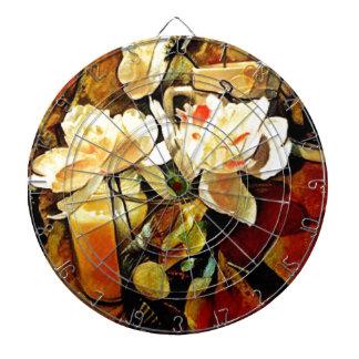 Modern Art Floral Dartboard