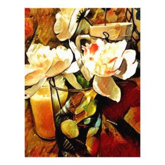 Modern Art Floral Letterhead