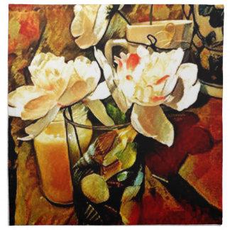 Modern Art Floral Napkin